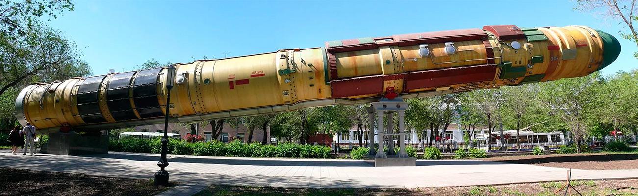 Баллистическая ракета Р-36М «Сатана». Близкая родственница ракеты Р-36О используемой в качестве носителя для частично-орбитальной бомбардировки