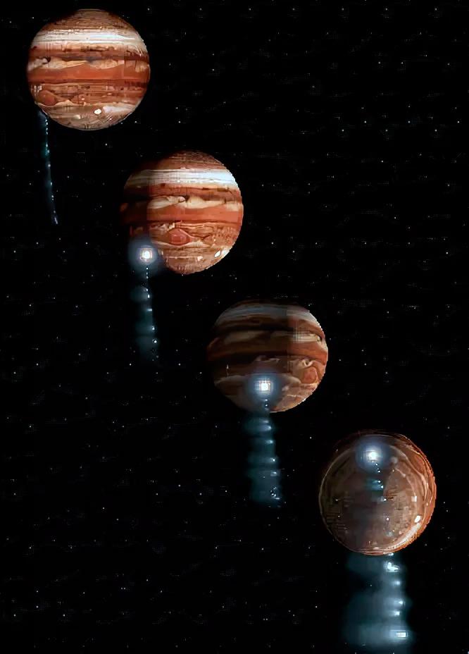 Падение кометы Шумейкеров—Леви 9 на Юпитер (модель)