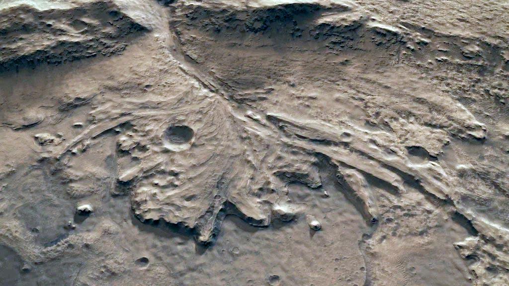 Фото района посадки марсохода «Персеверанс» в кратере Езеро
