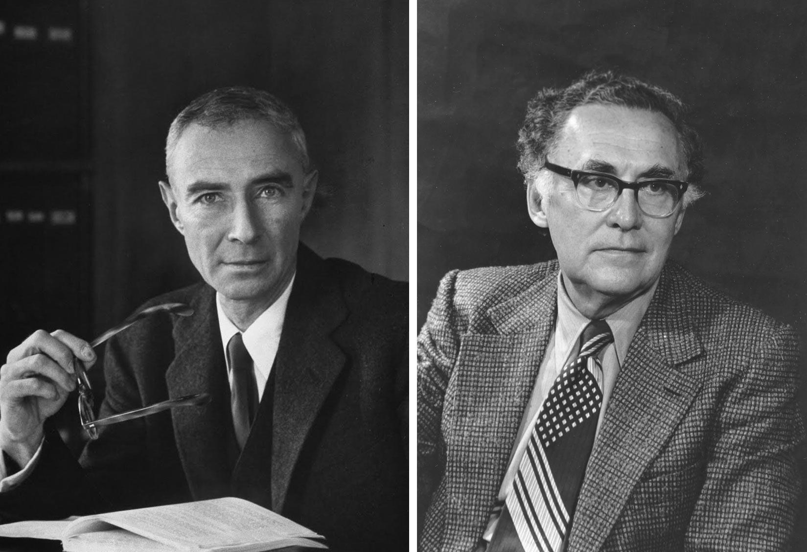 Роберт Оппенгеймер (слева) и Джордж Волков (справа)