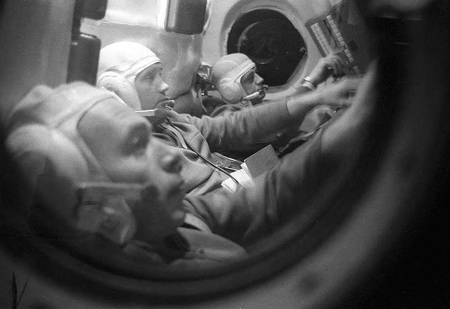 Экипаж космического корабля «Союз-11» перед стартом