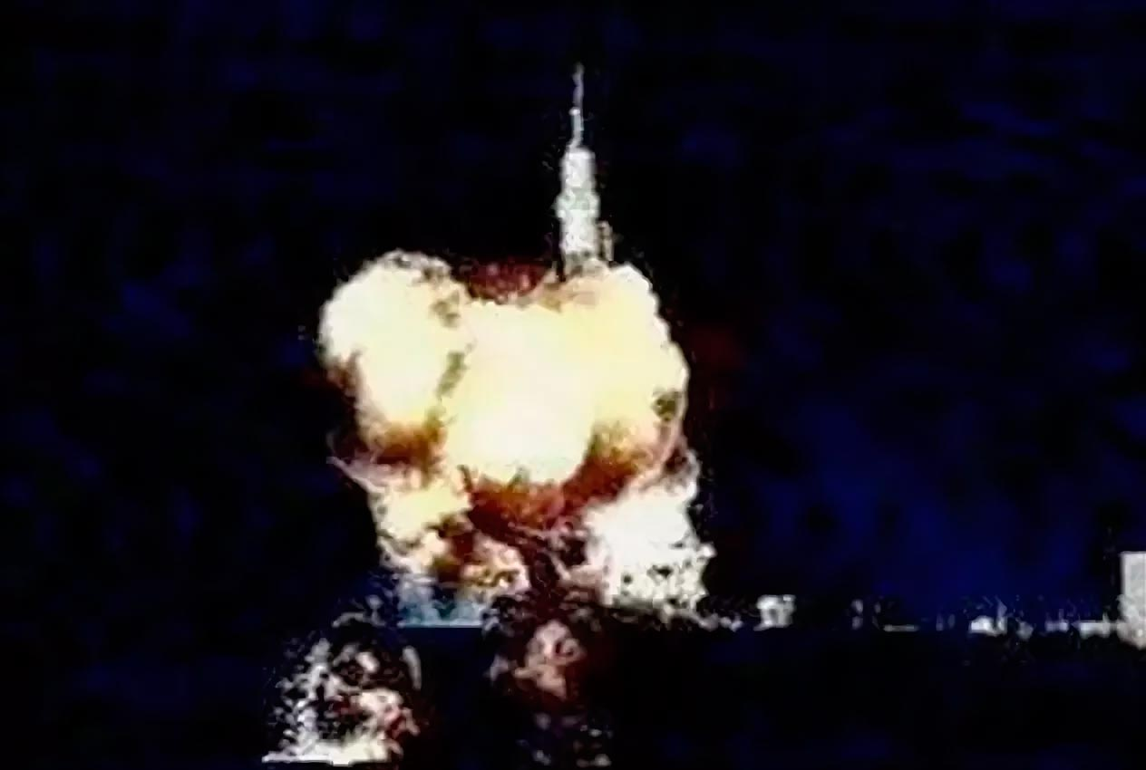 «Союз Т-10-1» взорвался при старте, однако космонавты успешно «катапультировались» и не пострадали