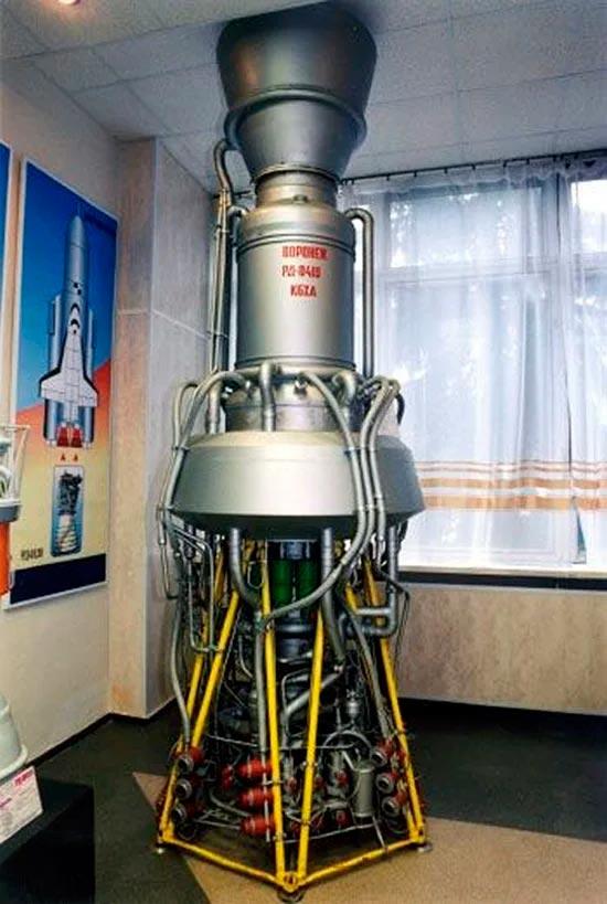 Советский вариант ядерного двигателя (РД-0410) для космического корабля