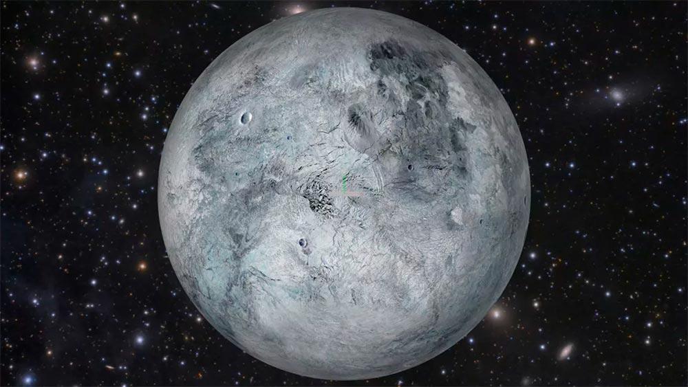 Как выглядит поверхность карликовой планеты Эрида никому не известно, но скорее всего она похожа на поверхность Плутона