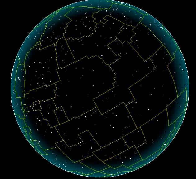 Вся небесная сфера вокруг нашей планеты расчерчена воображаемыми линиями - границами созвездий