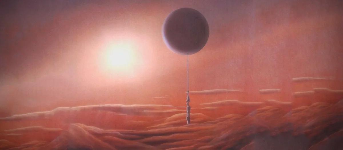 Исследовательский зонд «Вега» в атмосфере Венеры