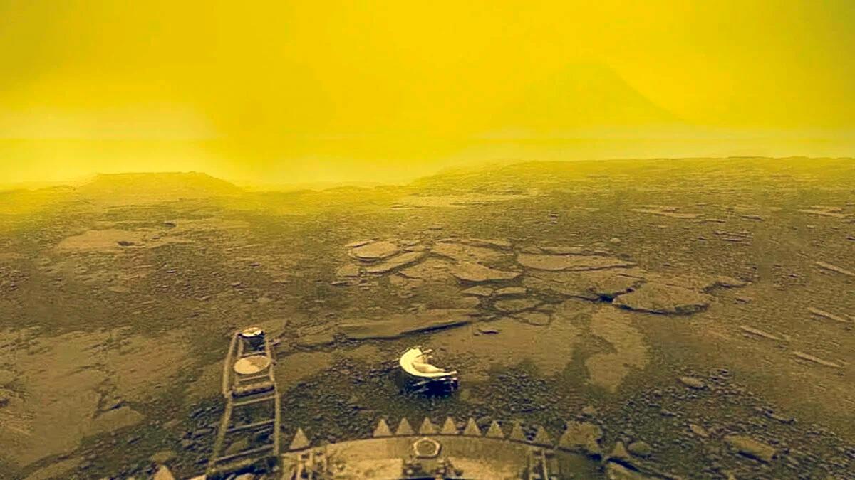 Поверхность Венеры, как её удалось заснять АМС «Венера-14» в 1981 году