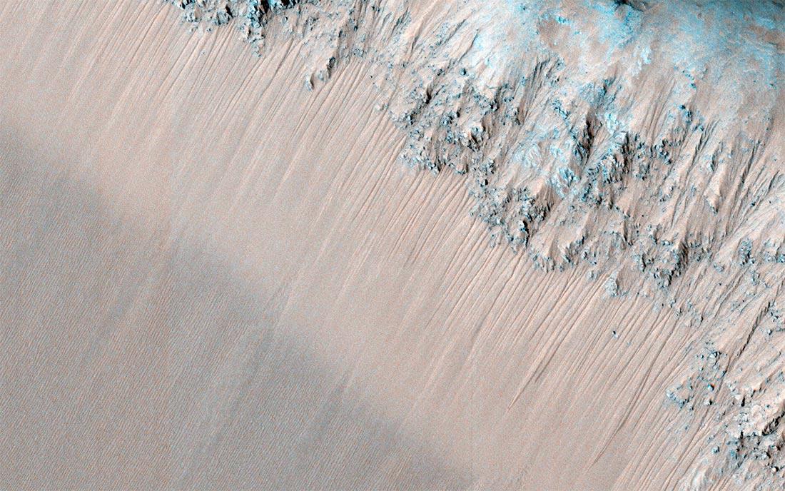 Рекуррентные полосы (RSL) на Марсе