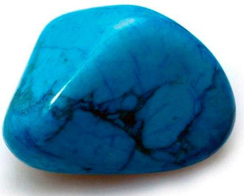 Полированный камень бирюзы