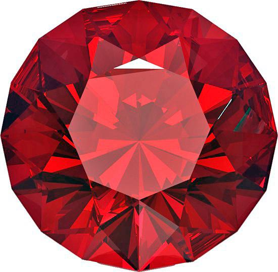 Драгоценный корунд рубин